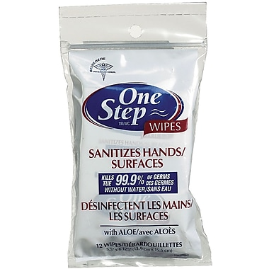 One Step Hand & Surface Wipes with Aloe