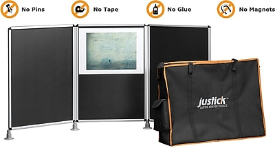 Justick® Electro-Adhesion 3 Panel Table Top Expo Display 72