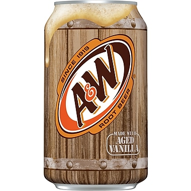 A&W Root Beer, 12 oz. Cans, 24/Pack