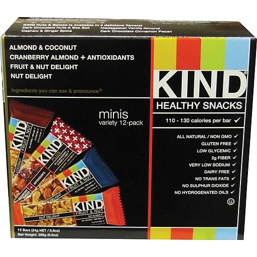 KIND Minis Variety Pack, 0.8 oz., 12/Box