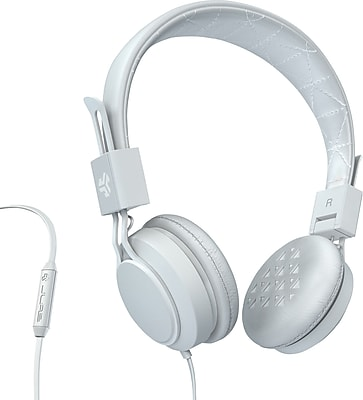 JLab Intro On-Ear Headphones White