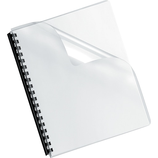 fellowes crystals binding presentation covers oversize clear 100