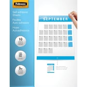 "Fellowes® Self Adhesive Laminating Sheets, 9x12"", 3 mil., 10 Pk"