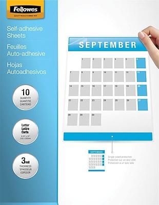Fellowes® Self Adhesive Laminating Sheets, 9x12