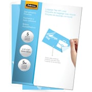 Fellowes Laminating Pouches - Luggage Tag Size Self-Adhesive, 5 mil, 5 pack