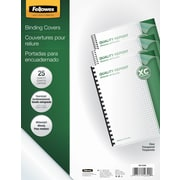 Fellowes Crystals Binding Presentation Covers, Letter, 25 Pack, Clear