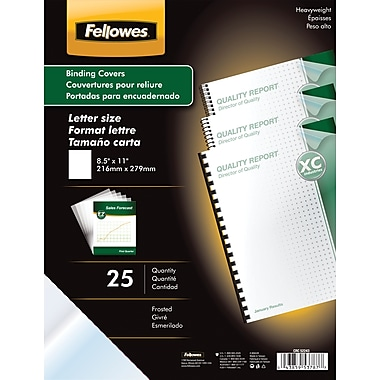 Fellowes® Futura Presentation Binding System Covers, Letter, 8-1/2x11, Frost, 25/PK