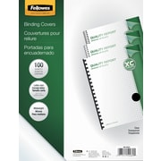Fellowes Crystals Binding Presentation Covers, Letter, 100 Pack, Clear (52089)