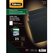 "Fellowes® Futura Presentation Binding System Covers, Letter, 8-1/2x11"", Black, 25/Pack"
