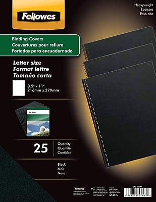 Fellowes® Futura Presentation Binding System Covers, Letter, 8-1/2x11