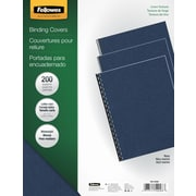 Fellowes Expressions 52098 Binding Presentation Covers, Letter, 200/Pack, Navy