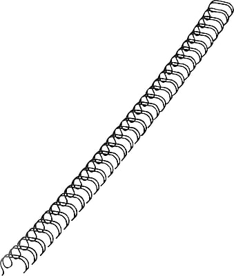 Fellowes® Wire Binding Spines, Black, 1/2