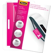 Fellowes Laminating Pouches - ID Tag Size, 10 mil, 100 pack