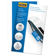 "Fellowes® Business Card Laminating Pouch, 7 mil, 2-1/4""H x 3-3/4""W, 100/Pack"