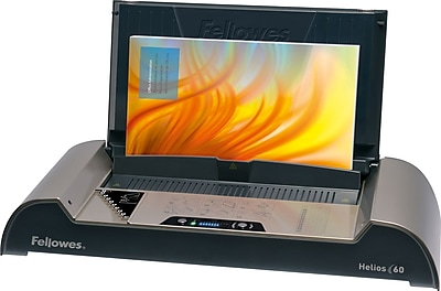Fellowes® Helios™ 6 Thermal Binding Machine, Frequent Use, 6-Sheet Binding Capacity, Platinum/Graphite