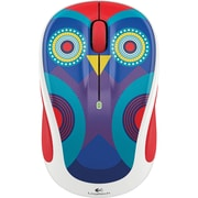 Logitech M325C Optical Wireless Ambidextrous Mouse, Owl Pattern (910-004440)
