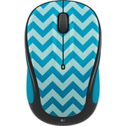 Logitech M325C Wireless Optical Mouse, Ambidextrous, Teal Chevron (910-004456)