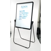Staples Whiteboard/Flip Chart Easel, Black Frame