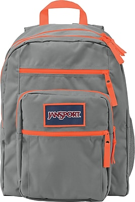 Jansport Big Student Backpack, Grey, Orange