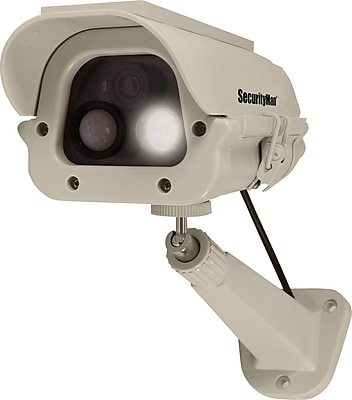 SecurityMan Solar Powered Spotlight Dummy Camera with PIR (Body Heat) Motion Sensor