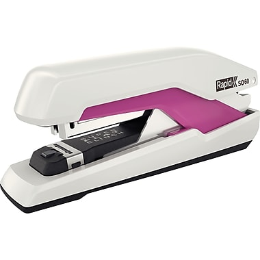 Rapid® Omnipress™ 60 Stapler, 60 Sheets Capacity, White/Pink