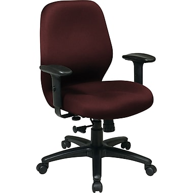 burgundy fabric office chair