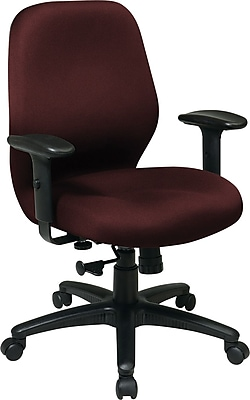 Office Star Fabric Managers Office Chair, Adjustable Arms, Burgundy (3121-227)