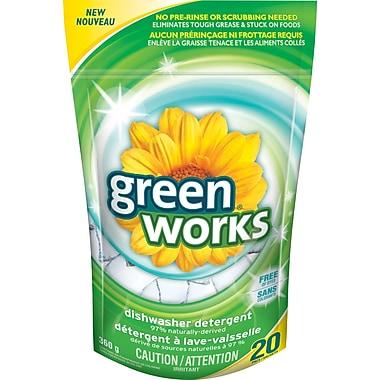 Green WorksMD – Nettoyant à vaisselle, 20/paquet