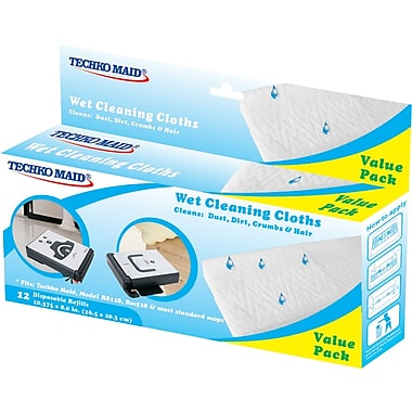 Techko Maid Wet cleaning cloths, 10.375x8 Inches