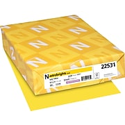 """Astrobrights Colored Paper, 24 lbs., 8.5"""" x 11"""", Solar Yellow, 500 Sheets/Ream (22531)"""