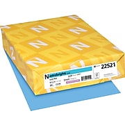 """Astrobrights Colored Paper, 24 lbs., 8.5"""" x 11"""", Lunar Blue, 500 Sheets/Ream (22521/21528)"""