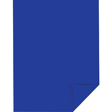 Wausau Paper Astrobrights Colored Card Stock, Blast-Off Blue , 8 1/2