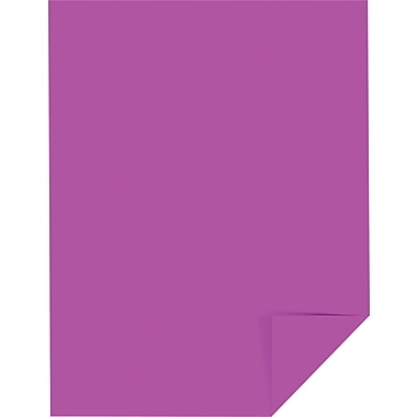 Wausau Paper Astrobrights Colored Card Stock, Outrageous Orchid , 8 1/2