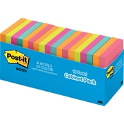 "Post-it® Original Notes, 3"" x 3"", Cape Town Collection, Cabinet Pack, 18/Pack"