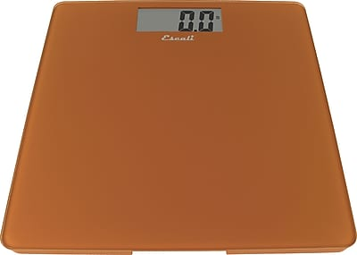 Escali Glass Platform Bathroom Scale, Cinnamon, 440 Lb 200 Kg