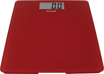 Escali Glass Platform Bathroom Scale, Rio Red, 440 Lb 200 Kg
