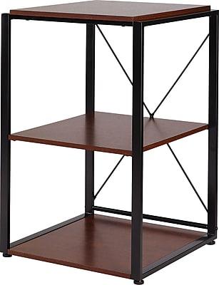 Staples® Axis Corner Stand, Cherry Finish