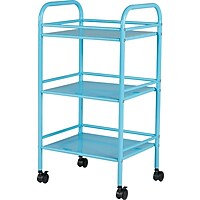 Staples.com deals on Staples 3 Shelf Rolling Cart Light Blue 27960