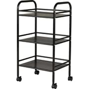 Staples® 3 Shelf Rolling Cart, Assorted Colors