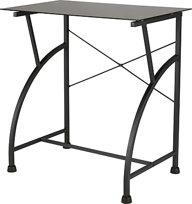 Staples Computer Cart with Glass Top