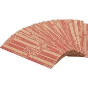 Coin-Tainer® Flat Tubular Penny Wrappers, Red, $0.50, 1000/Box