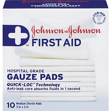 Johnson & Johnson First Aid Non-Stick Pads, 3
