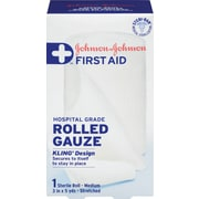 Johnson & Johnson First Aid Rolled Gauze, Medium