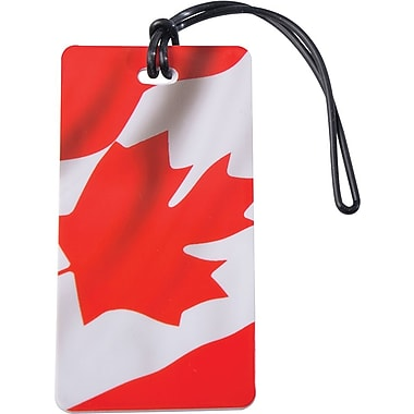 Austin House Waving Canada Flag Luggage Tag