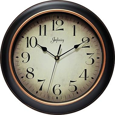 Instruments Infinity – Horloge murale de 12 po à trotteuse silencieuse et cadran traditionnel, Hanover (14877BG-2732)