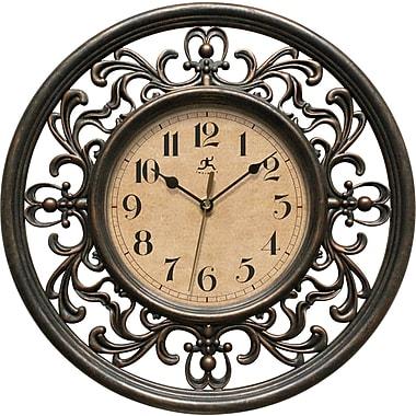 Infinity Instruments – Horloge murale Sofia de 12 po à mouvement silencieux et au motif antique élégant (15013RS-4012)