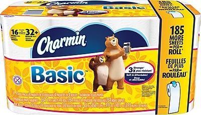 Charmin® Basic Double Rolls Bath Tissue Rolls, 16 Rolls/Case (PGC 85985/50911)