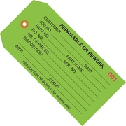 """Staples - 4 3/4"""" x 2 3/8"""" - """"Repairable or Rework"""" Inspection Tag, 1000/Case"""