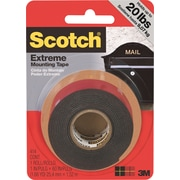 "Scotch® Extreme Mounting Tape, 1"" x 60"", Black, 1 Roll/Pack"
