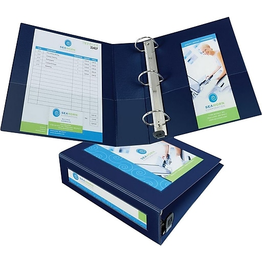 """Avery Framed View Binder with 3"""" One Touch EZD Rings, Navy Blue (68038)"""